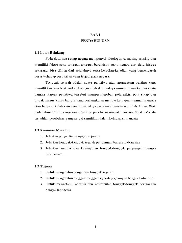 Makalah Sejarah Perjuangan Bangsa Indonesia : makalah, sejarah, perjuangan, bangsa, indonesia, Makalah, Analisis, Kesimpulan, Tonggak, Sejarah