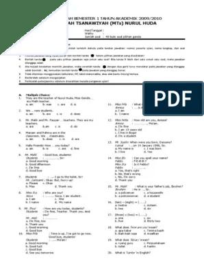 Bank Soal Bahasa Inggris Smp Kelas 7 Dan Kunci Jawaban : bahasa, inggris, kelas, kunci, jawaban, Contoh, Bahasa, Inggris, Kelas, IlmuSosial.id