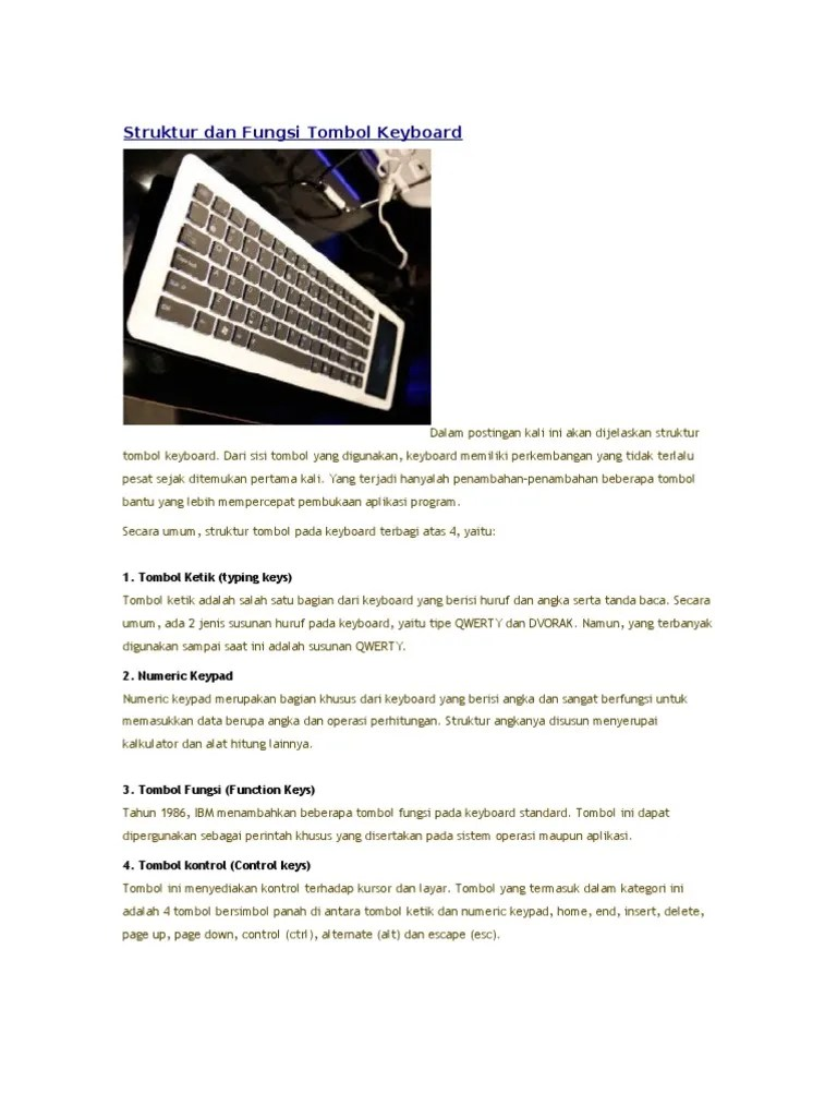Struktur dan Fungsi Tombol Keyboard - .:science & ict