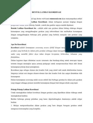 Bentuk Latihan Kombinasi dan Koordinasi Sepak Bola Lengkap