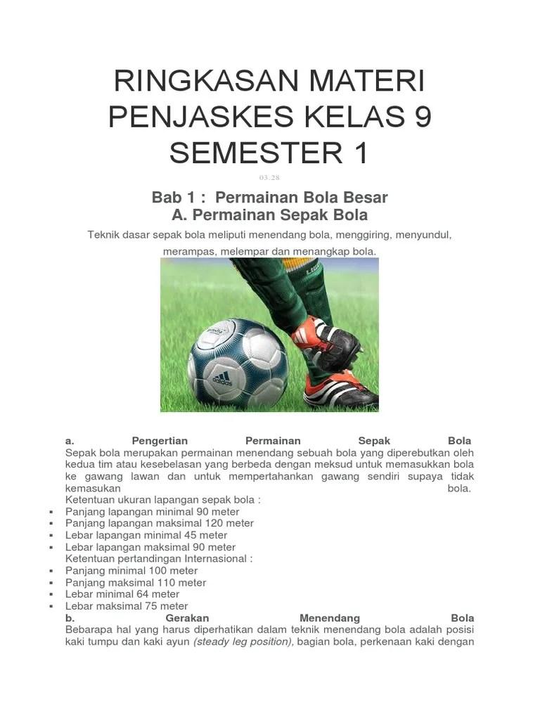 Rangkuman Materi Sepak Bola : rangkuman, materi, sepak, RINGKASAN, MATERI, PENJASKES, KELAS, SEMESTER, 1.docx