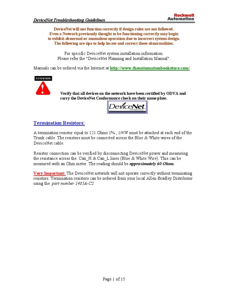 devicenet wiring diagram wiring diagrams konsult devicenet wiring guidelines [ 768 x 1024 Pixel ]