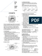 Citizen Eco-Drive C650/C651/C652 Setting Instructions