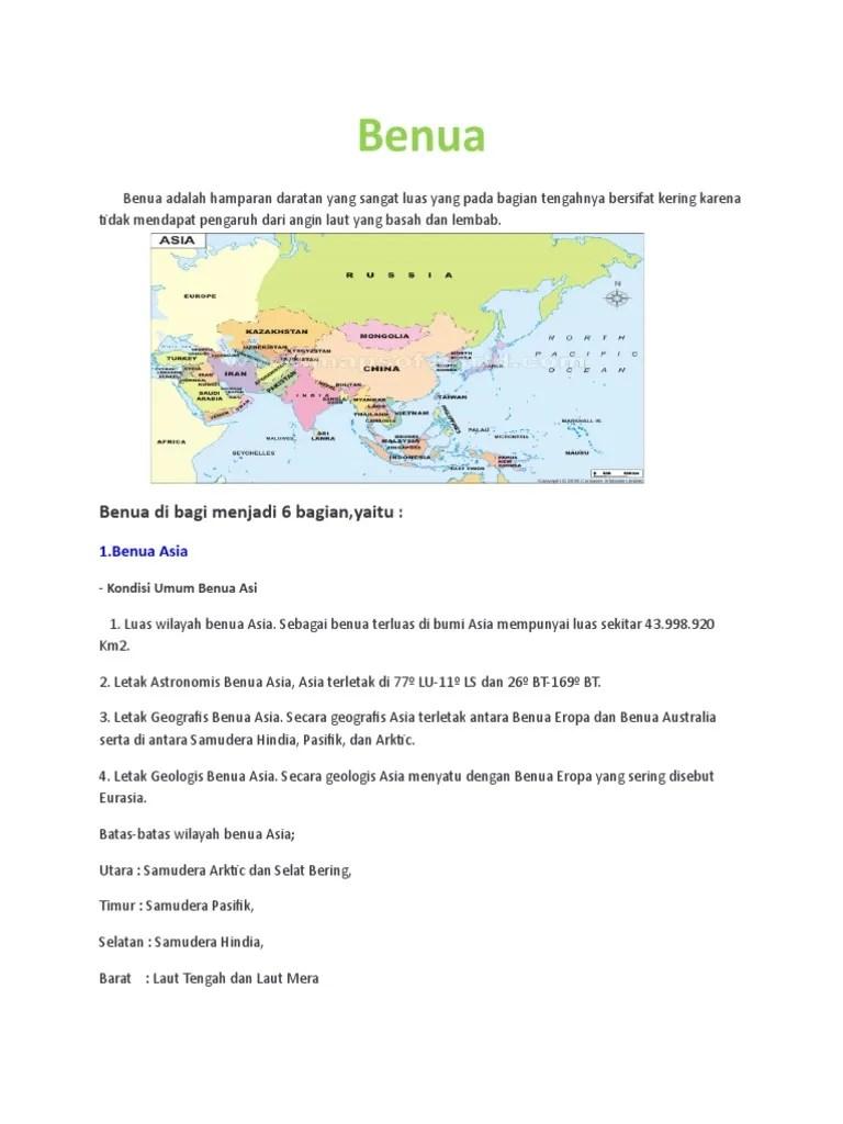 Letak Astronomis Benua Asia Adalah : letak, astronomis, benua, adalah, Benua