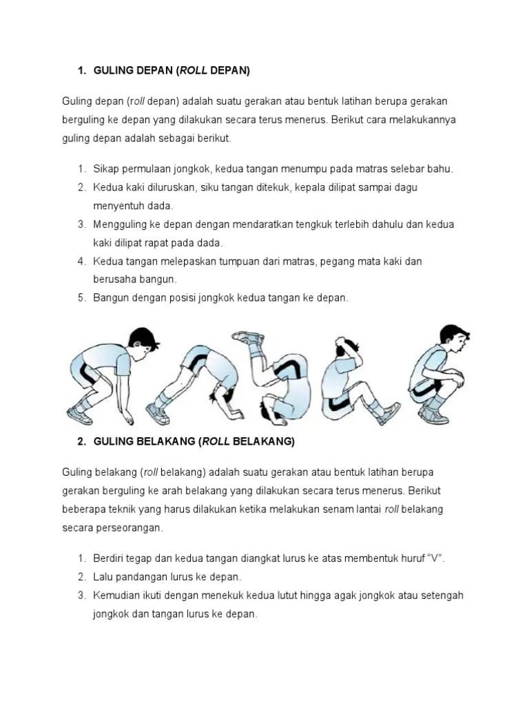 Cara Roll Depan : depan, GERAKAN, PENJAS