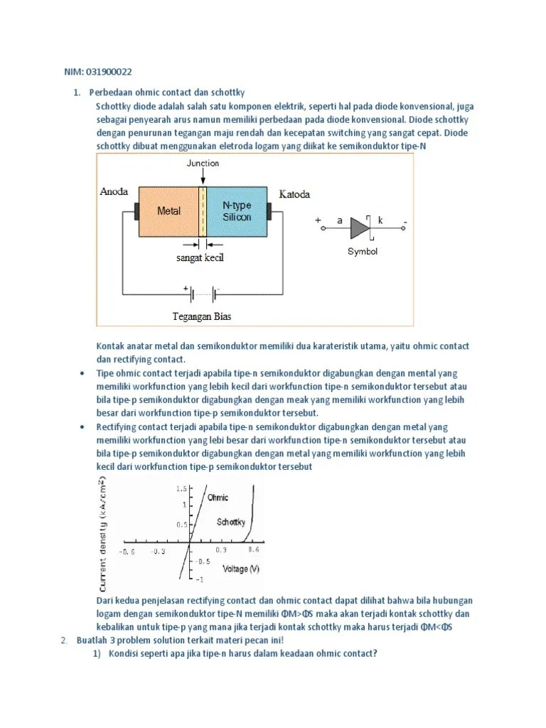 What is a Schottky Diode? Definition, Construction... - Electronics Desk