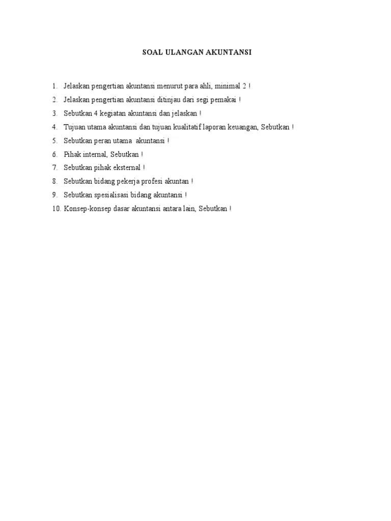 Sebutkan Bidang Bidang Akuntansi : sebutkan, bidang, akuntansi, ULANGAN, AKUNTANSI.docx