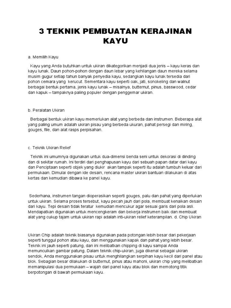 Teknik Pembuatan Kerajinan Kayu : teknik, pembuatan, kerajinan, TEKNIK, PEMBUATAN, KERAJINAN