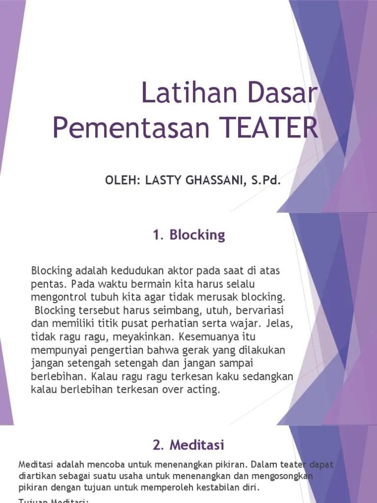 Latihan Dasar Teater : latihan, dasar, teater, Materi, Kelas, (Latihan, Dasar, Pementasan, Teater)