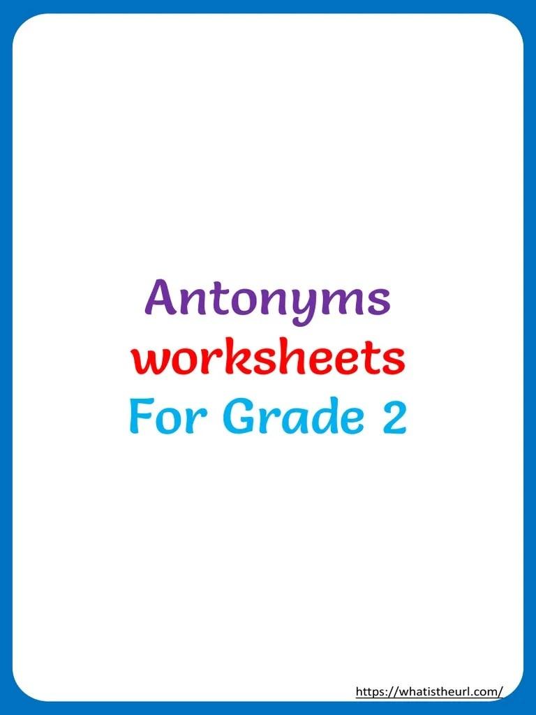 hight resolution of Antonyms: worksheets