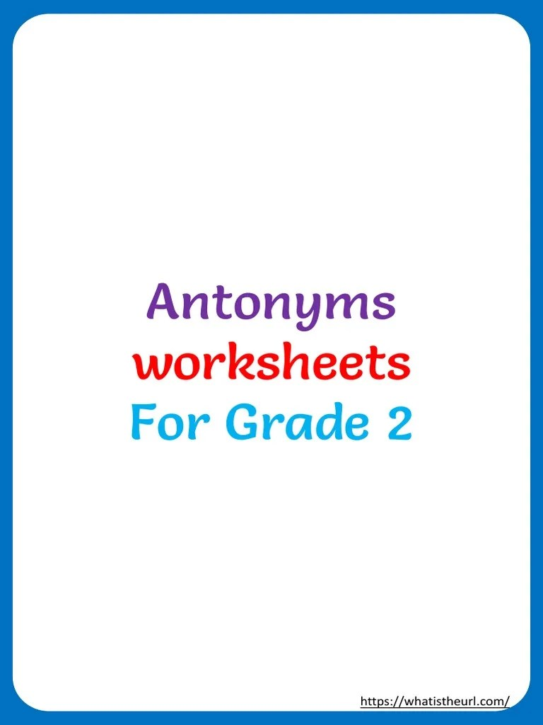 small resolution of Antonyms: worksheets