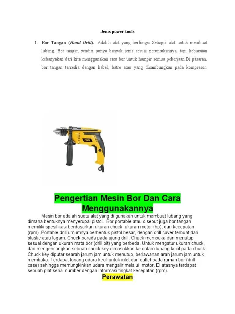 Jenis Jenis Power Tools : jenis, power, tools, Jenis, Power, Tools, Materi.docx