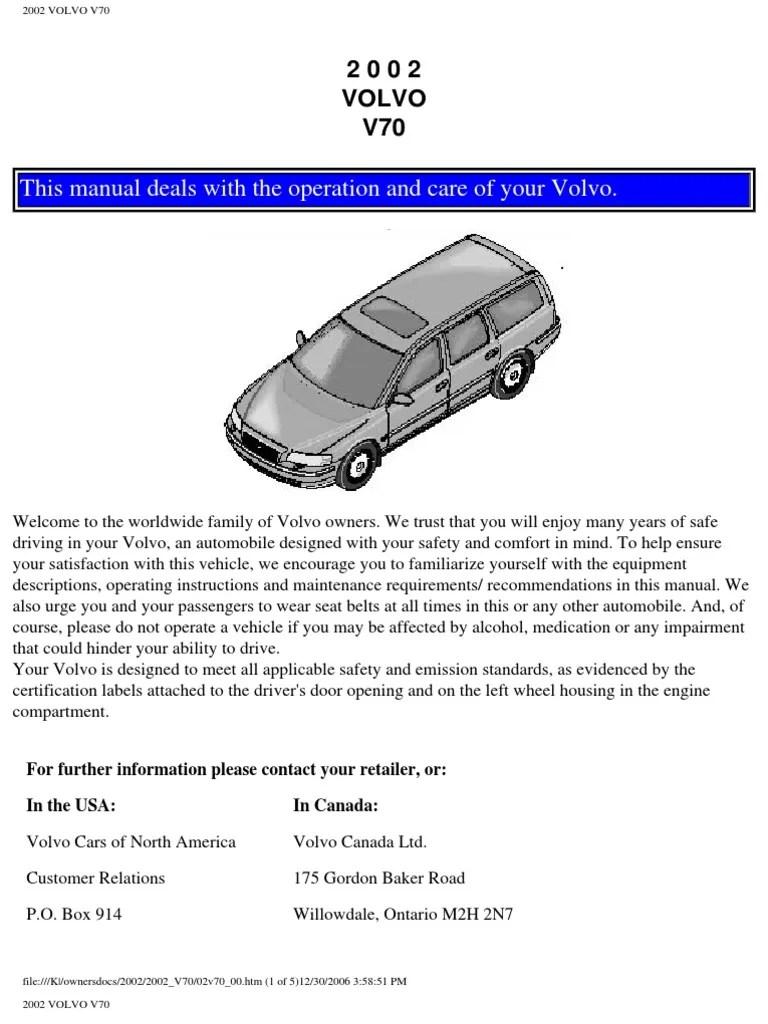 medium resolution of volvo v70 2002 user manual airbag seat belt 1998 volvo s70 vacuum hose diagram besides vw golf 1 tuning besides