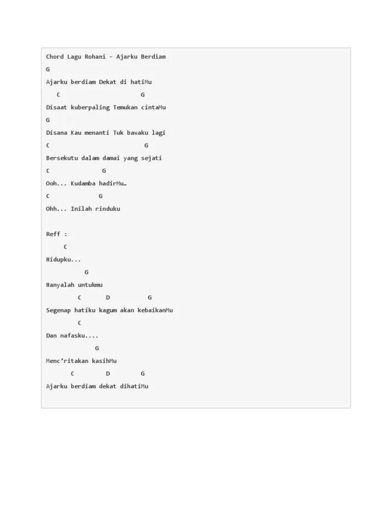 Chord Dalam Pekatnya : chord, dalam, pekatnya, Chord, Rohani