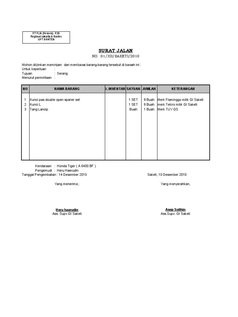 Contoh Surat Jalan Pengeluaran Barang : contoh, surat, jalan, pengeluaran, barang, BLANKO, SURAT, JALAN