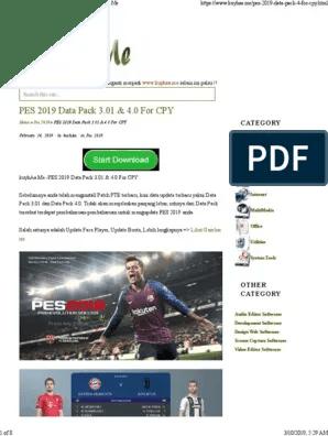 eFootball PES2020 Download تحميل لعبة بيس 2020 بالتعليق...