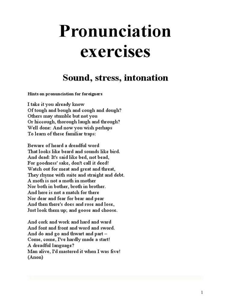 medium resolution of Pronunciation exercises   Vowel