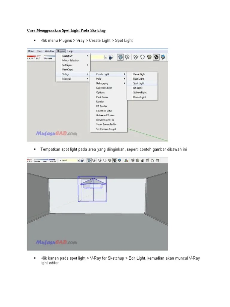 Mirror Pada Sketchup : mirror, sketchup, Plugins, Create, Light