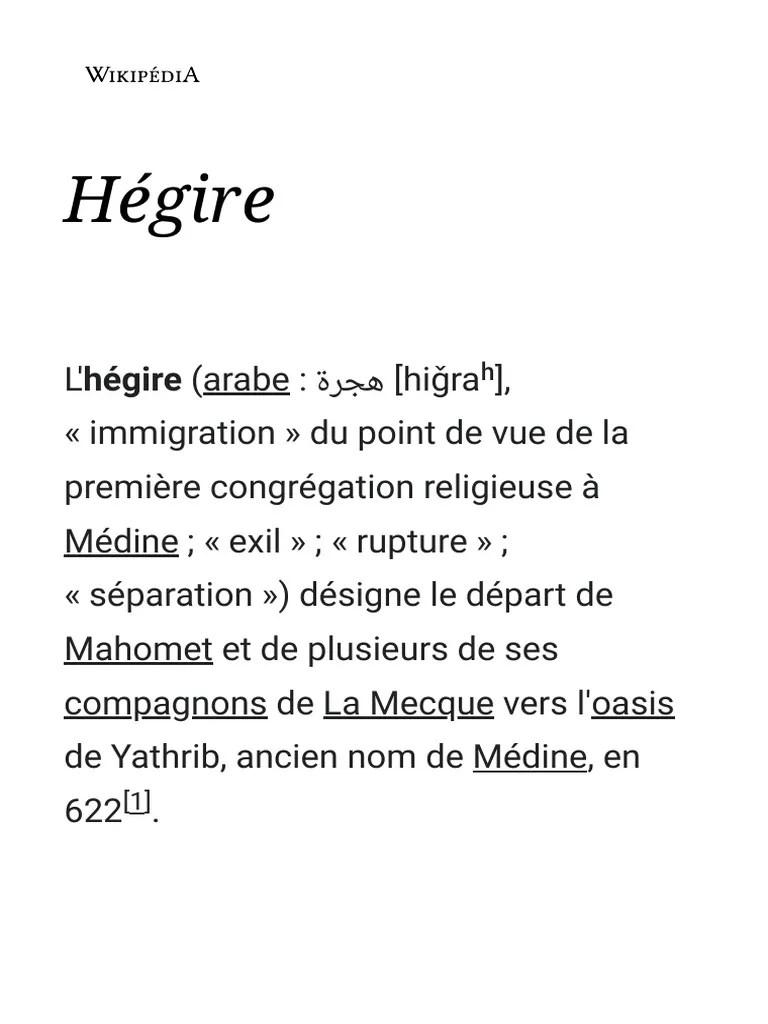 Qu Est Ce Que L Hégire : hégire, Hégire, Wikipédia, Mahomet, Religions, Abrahamiques