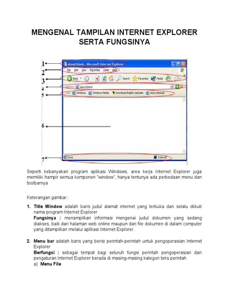 Bagian Bagian Internet Explorer Dan Fungsinya : bagian, internet, explorer, fungsinya, MENGENAL, TAMPILAN, INTERNET, EXPLORER, SERTA, FUNGSINYA