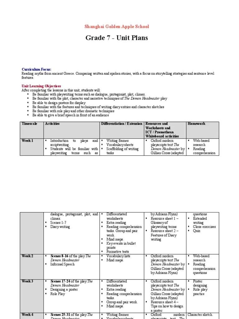 hight resolution of Year7Schemesofwork   Punctuation   Reading Comprehension