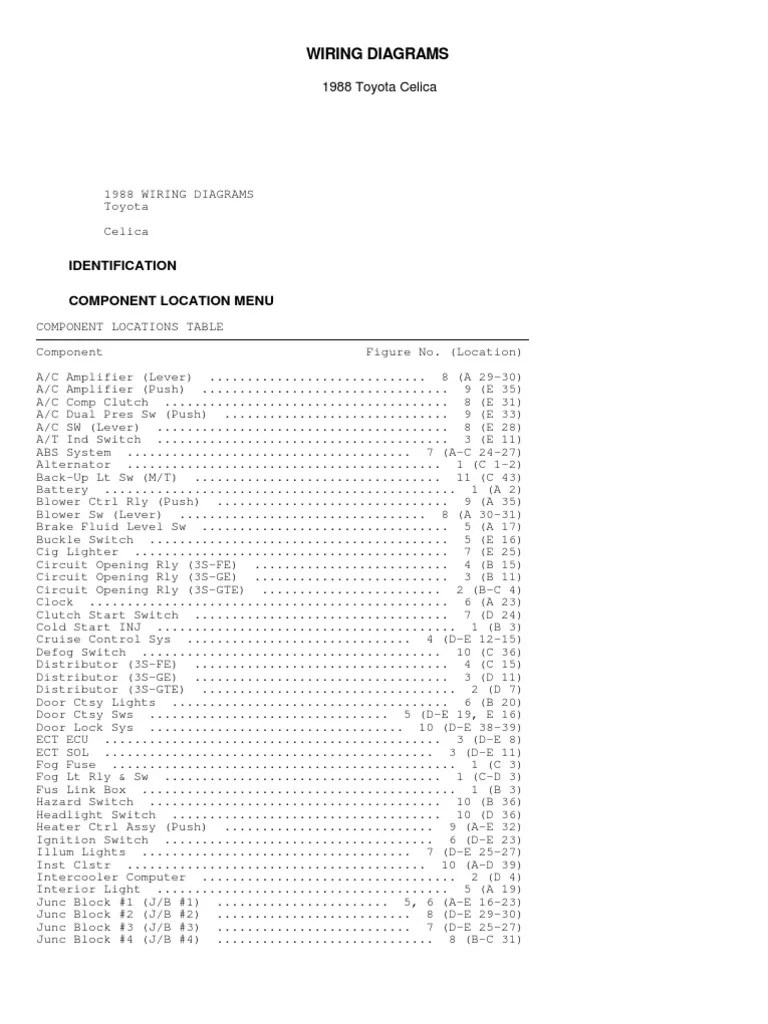 medium resolution of 1988 toyotum wiring diagram
