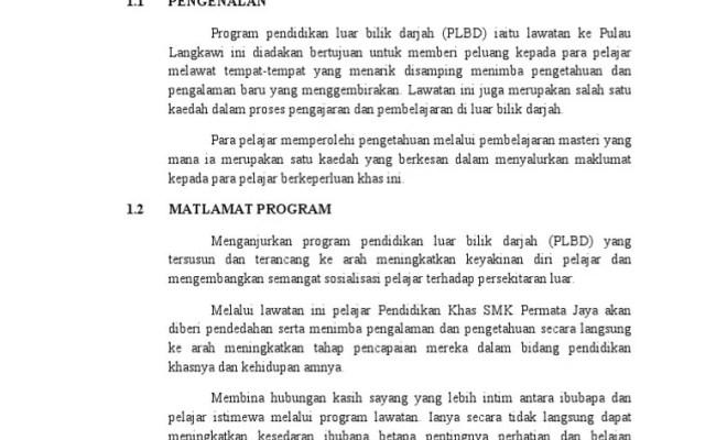Contoh Laporan Lawatan Sambil Belajar Ke Melaka