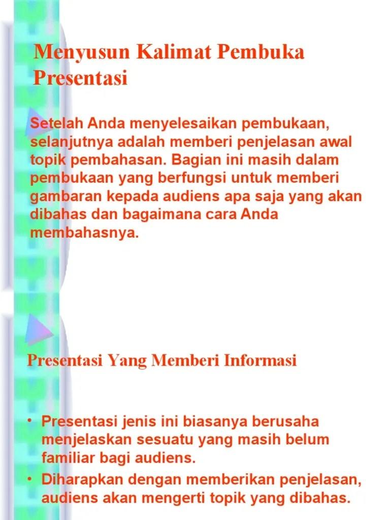 Kalimat Pembuka Presentasi Singkat : kalimat, pembuka, presentasi, singkat, Contoh, Kalimat, Pembuka, Presentasi, Proposal, Gambaran
