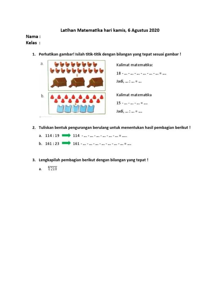Lengkapilah Titik-titik Berikut Dengan Bilangan Yang Tepat : lengkapilah, titik-titik, berikut, dengan, bilangan, tepat, Latihan, Matematika, Kamis,, Agustus