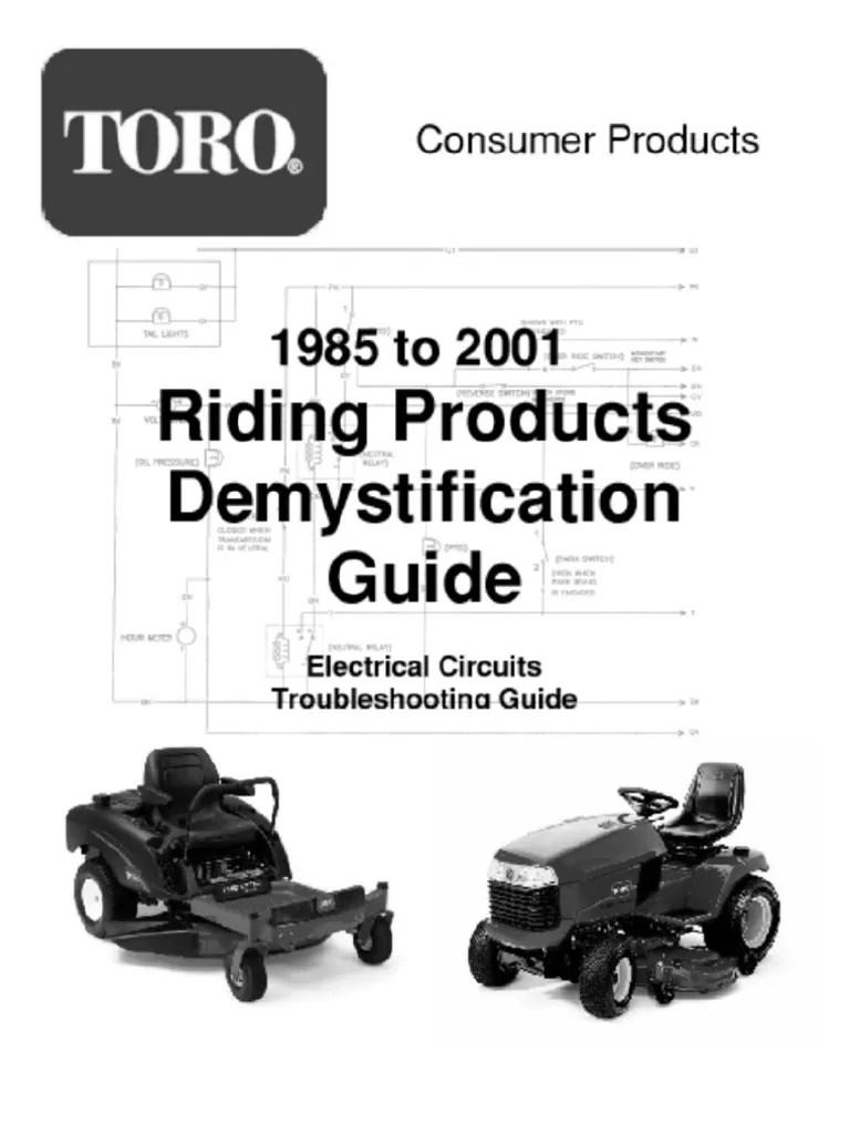 medium resolution of toro wheelhorse demystification electical wiring diagrams for all rh scribd com toro wheel horse tractors wiring toro riding mower wiring diagrams