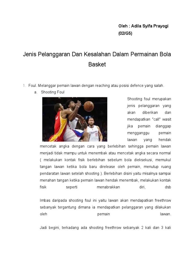 20 Kesalahan dalam Bola Basket Paling Umum Perlu Dihindari