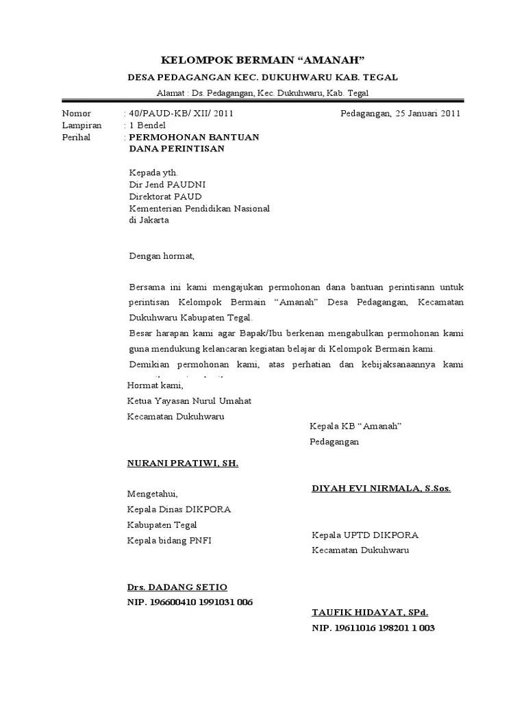 Contoh Surat Permohonan Bantuan Dana Modal Usaha Ke Baznas ...