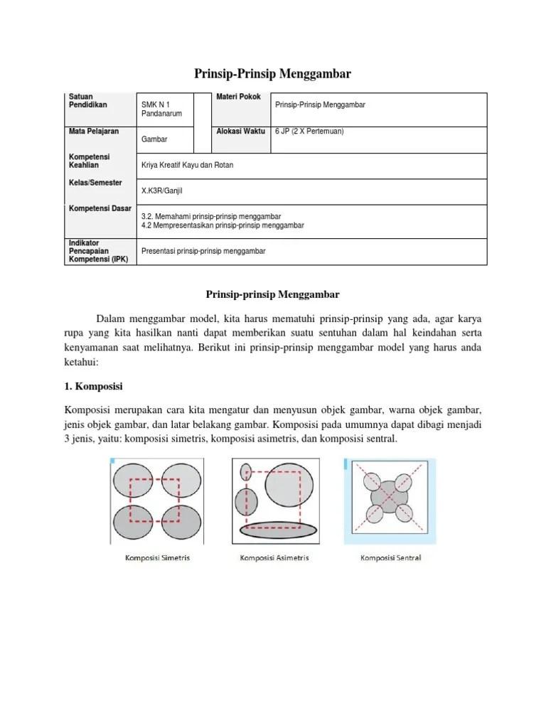 Prinsip Prinsip Menggambar : prinsip, menggambar, Materi, Gambar