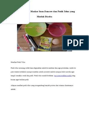 Cara Membuat Masker Dari Susu Dancow : membuat, masker, dancow, Membuat, Masker, Dancow, Putih, Telur, Mudah, Dicoba