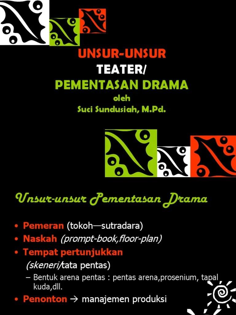 Unsur Unsur Teater : unsur, teater, GANDES, UNSUR-UNSUR, Teater