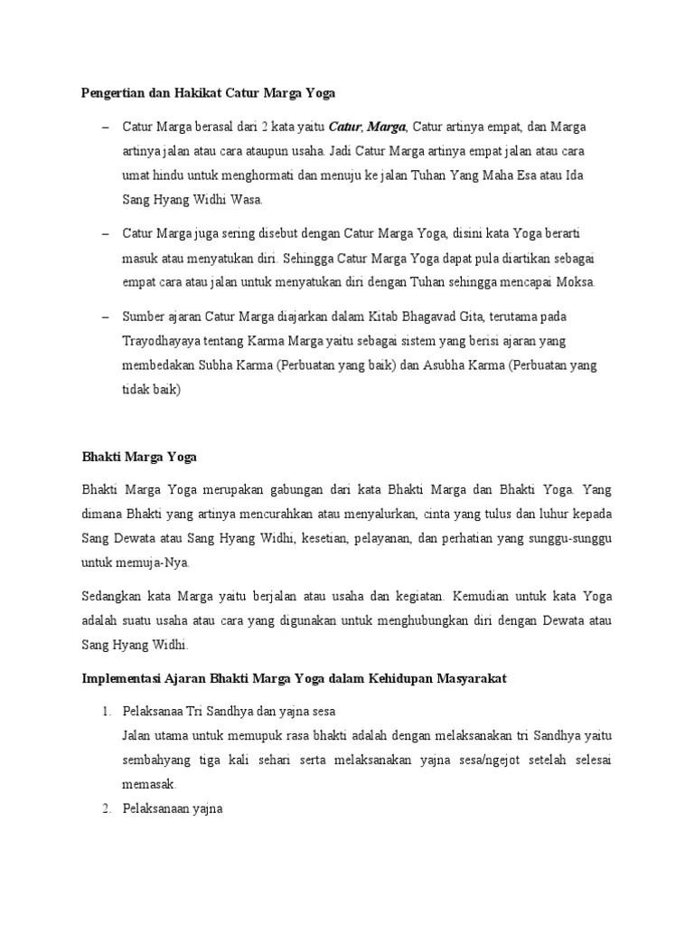 Bagian-bagian Catur Marga Yoga : bagian-bagian, catur, marga, CATUR, MARGA