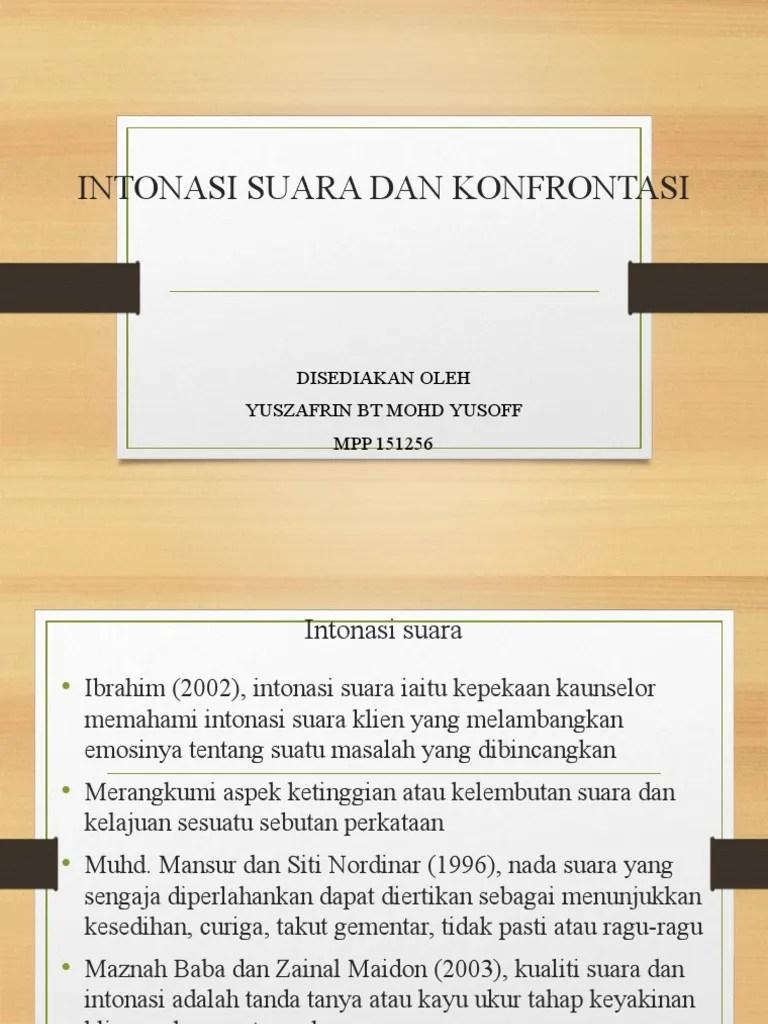 Bahasa Kebangsaan: Topik 3 : Intonasi
