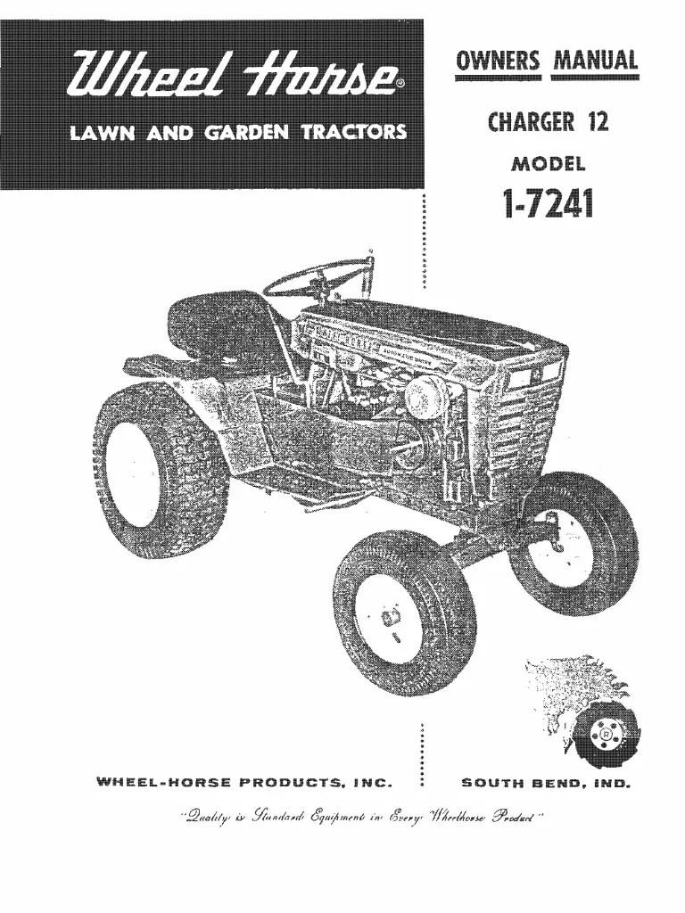medium resolution of wheel horse raider 12 model 6 4112 wiring diagram