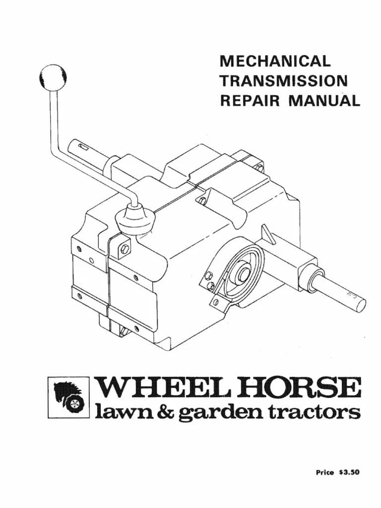 medium resolution of wheelhorse manual transmissions service manual transmission mechanics axle