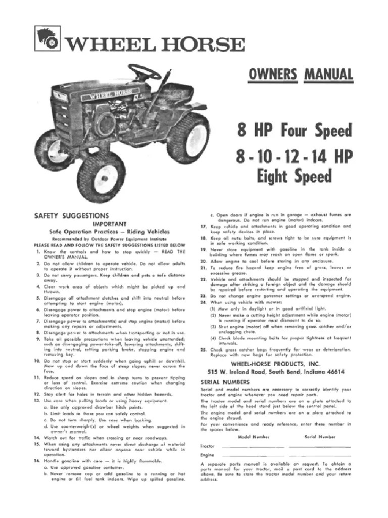 small resolution of wheel horse part diagram transmission manual