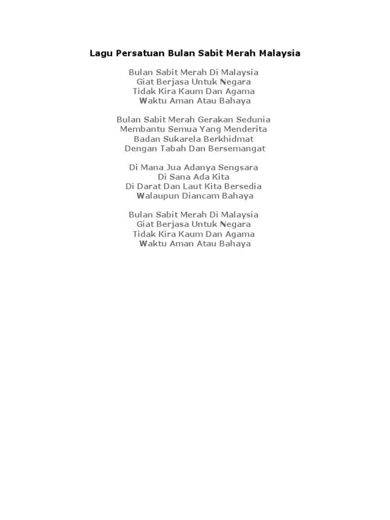 Teks Lagu Bulan Sabit : bulan, sabit, Lirik