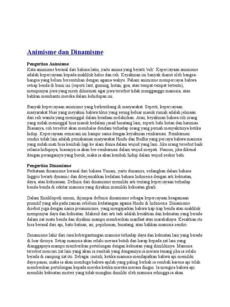 Apa Perbedaan Kepercayaan Animisme dengan Dinamisme?