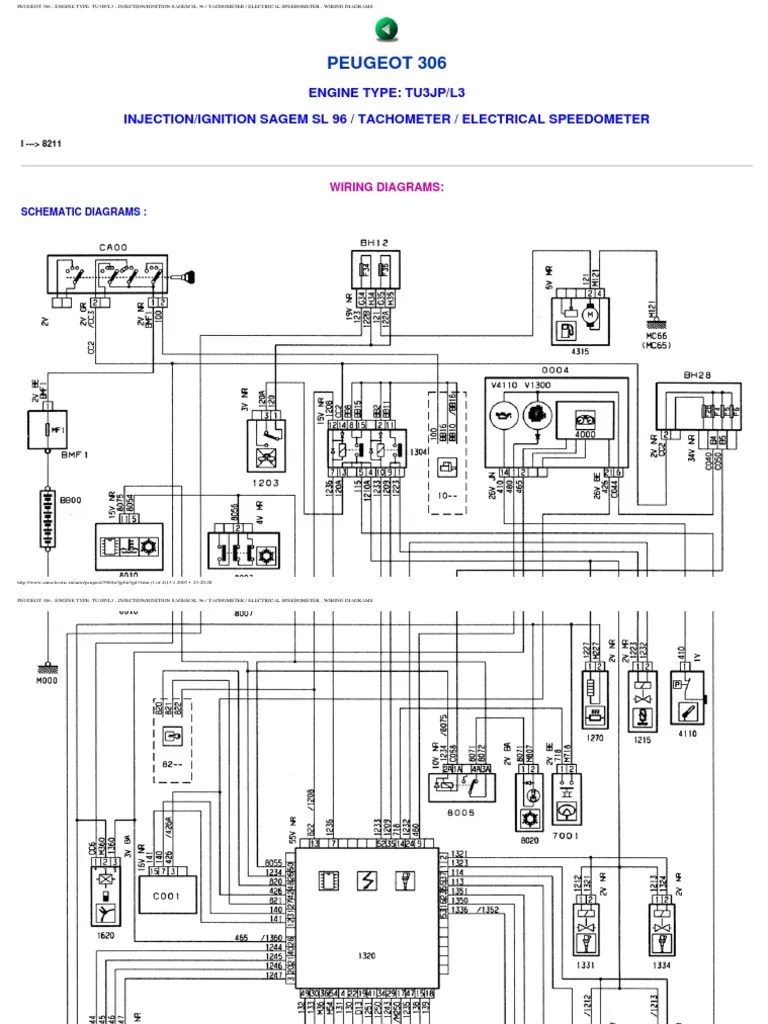 Peugeot 306 Wiring Diagrams