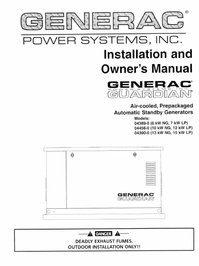 generac generator specification [ 768 x 1024 Pixel ]