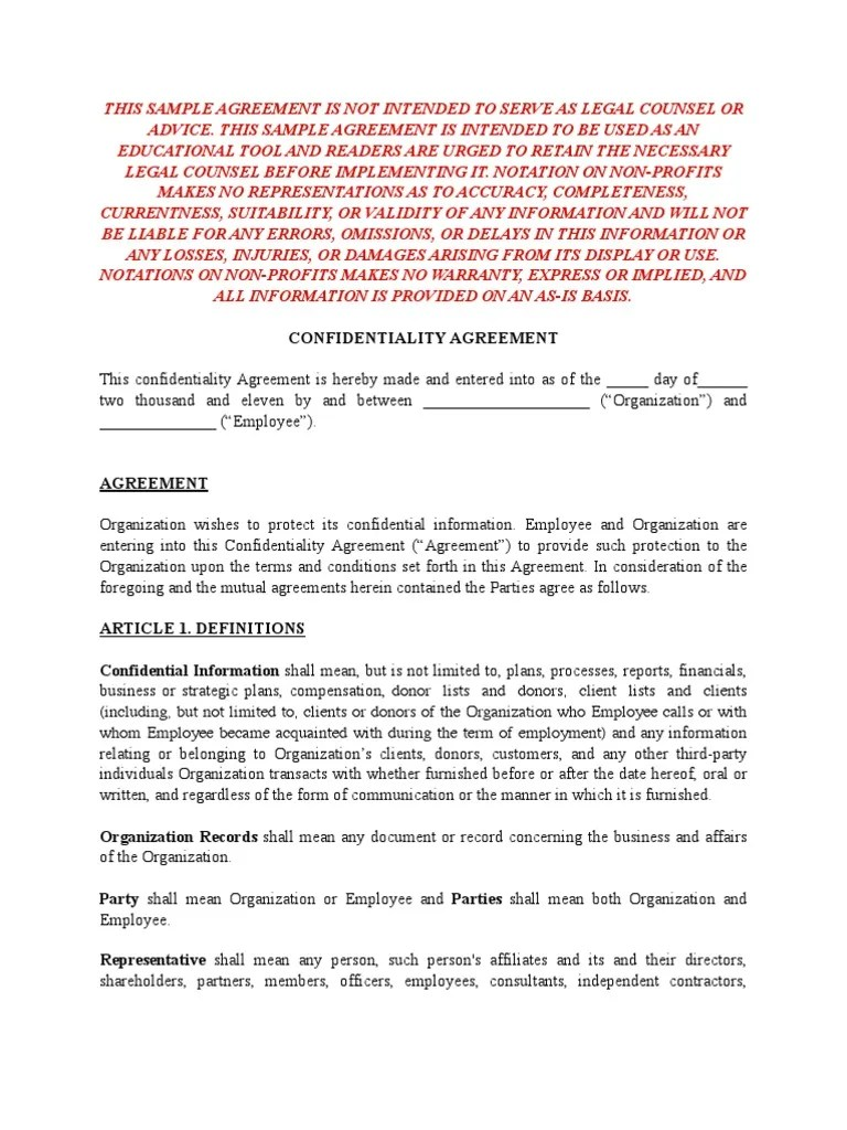 Contractor Confidentiality Agreements Contractor Confidentiality