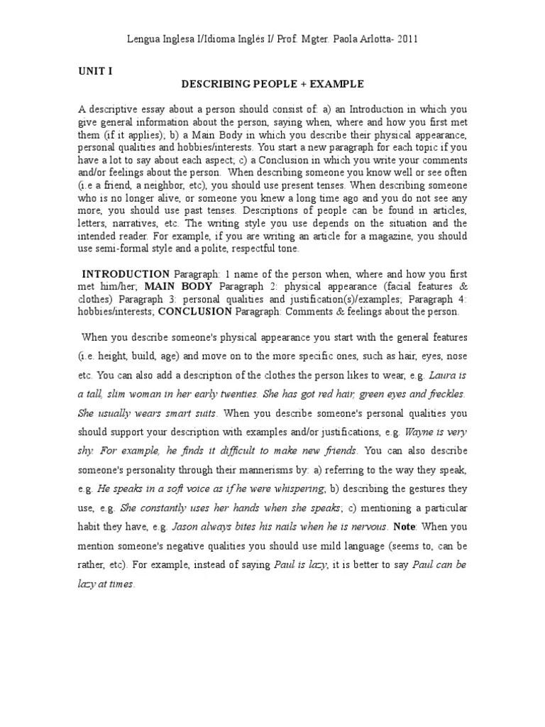 descriptive essay introduction examples