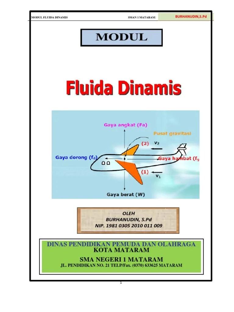 Penerapan Fluida Dinamis : penerapan, fluida, dinamis, Fluida, Dinamis, (Burhan)