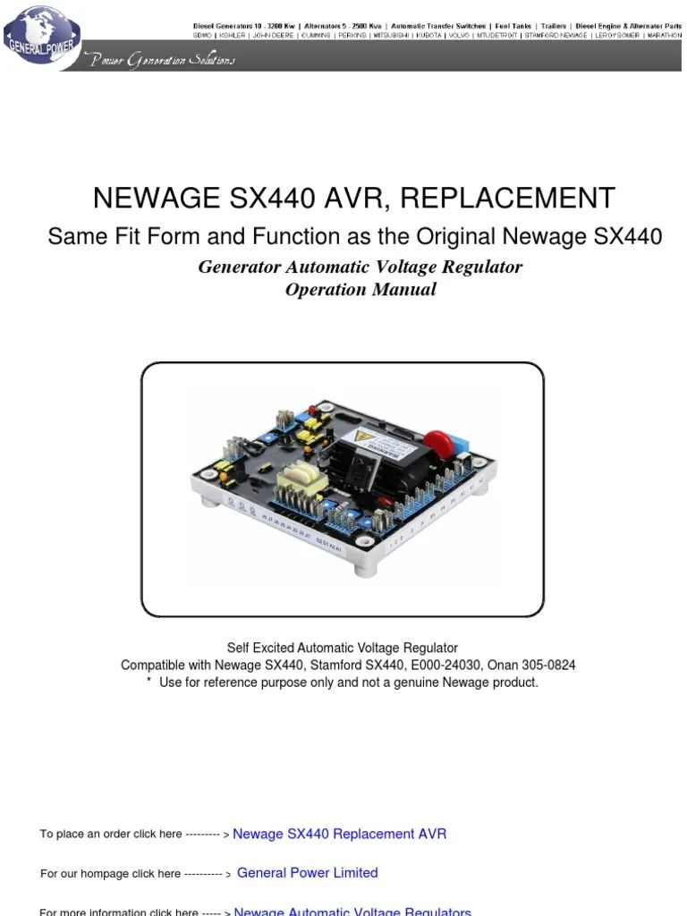 small resolution of newage sx440 automatic voltage regulator electric generator volt ac power voltage regulator sx440 voltage regulator wiring diagram