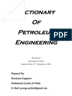 Dictionary of Oil Industry Terminology