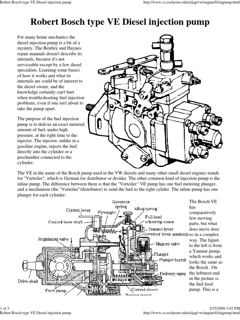 medium resolution of robert bosch type ve diesel injection pump fuel injection diesel engine